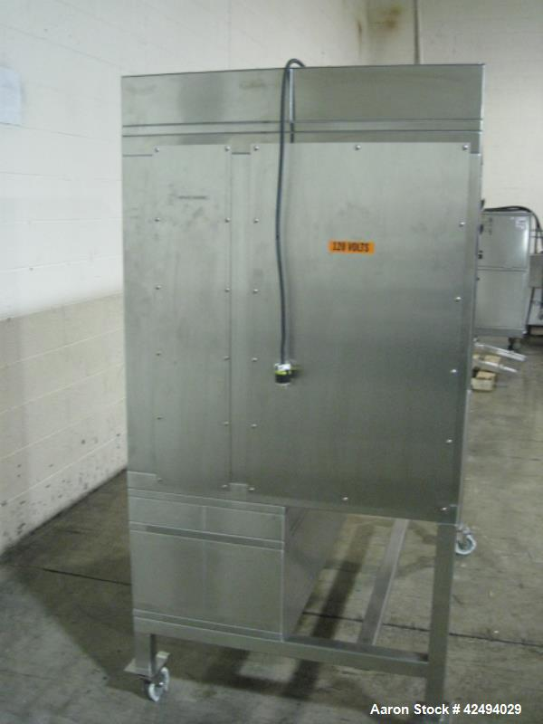 Used- ISI Fume hood, model HRFC-34, stainless steel construction, horizontal inward flow, glass vertial sash, serial # 9238-...