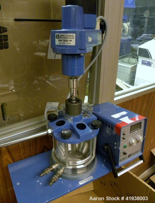 Used- IKA 0.25 Gallon Laboratory Reactor System consisting of: (1) Ika Stirrer, model RE 162/P, 2.5-400 rpm. Includes an IKA...