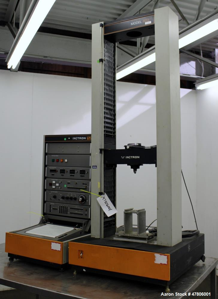Used- Instron 1120 Series Tensile Tester, Model 1122. Designed and used for testing the physical properties and stretching c...