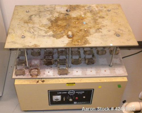 """Used- Lab Line Orbit Shaker, Model 3590. Approximate 28"""" long x 20"""" wide shaker area. Driven by a 1/4 HP, 130 Volt, 2500 RPM..."""