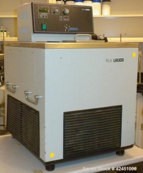 "Used- Lauda Circulator, Model RLS6. Chamber measures 10"" long x 4 1/2"" wide x 6"" deep. Front mounted digital display with te..."