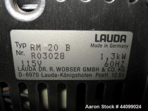 Used- Lauda heated water bath, model RM20B, 1.3 kw, 60 hertz, 115 volt, serial# R03028.