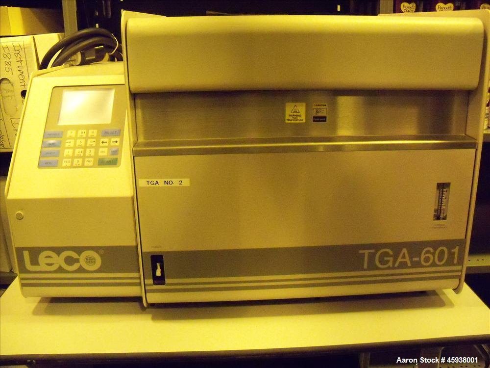 Used- Leco TGA-601 Thermogravimetric Analyzer, Model 604-100-600. Designed to measure percent total Moisture/Ash in Wheat Fl...
