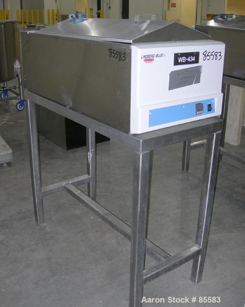 "USED: Lindberg/Blue M circulating water bath, model MW-1140C-1, stainless steel. Trough measures 18"" wide x 36"" long x 9-1/2..."