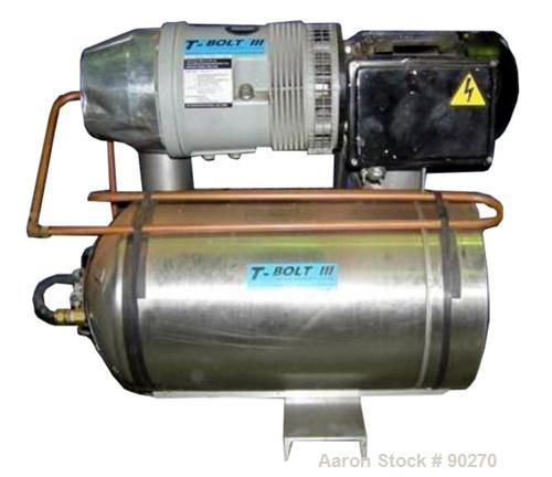 USED: Luckman Corp T-Bolt III oil free air compressor, approximately 7 cfm at 100 psi. 2 hp, 1/60/208-230 volt, 1730 rpm. Us...