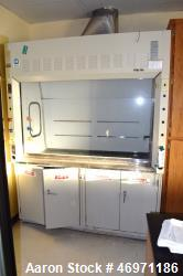 Used- Hanson Laboratory Fume Hood, Model 5SA-70. With front glass door. Serial# 3229.
