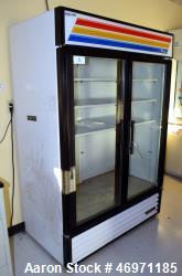 Used- True Manufacturing Glass Door Merchandiser Refrigerator, 49 Cubic Feet, Model GDM-49. Temperature range 33 to 38 degre...