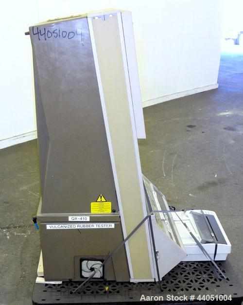 Used- Monsanto Moving Die Rheometer, Model MDR 2000. Curemeter designed to test mixed rubber, and the most successful rotorl...
