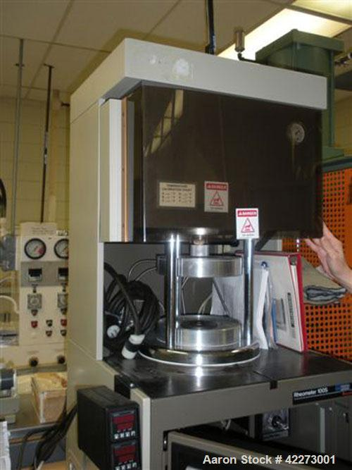 Used-Monsanto Model R100S Rheometer designed for evaluating the flow properties of fluids and molten polymers.