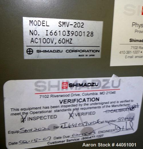 Used- Mooney Viscometer, Model SMV-202