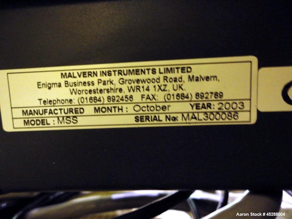 Used- Malvern Instruments Mastersizer-S Particle Size Analyzer, Model MSS