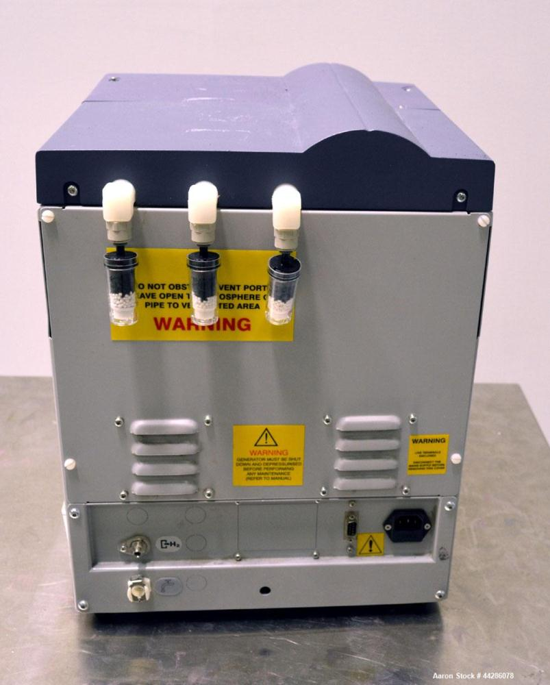Used- Domnick Hunter Hydrogen Gas Generator, Model 20H. Designed to produce a constant stream of high purity hydrogen at a p...