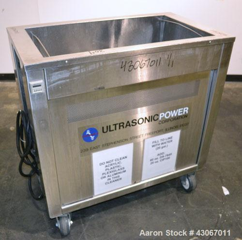 Used- Ultrasonic Power Corporation Ultrasonic Cleaner, Model 53-40-158, 304 Stainless Steel. Approximate 39 gallon tank, 18'...