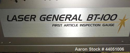 Used- Laser General BT-100 Inspection Gauge, Semi-Automatic