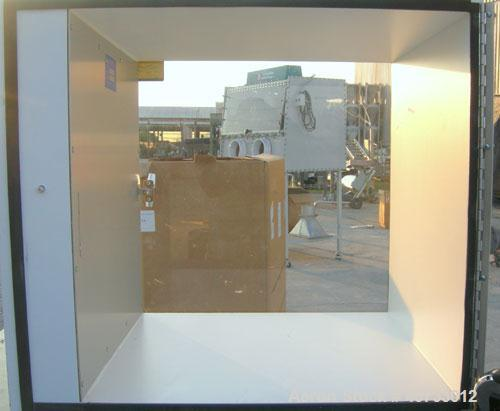 """Used- Clean Room Products Incorporated Pass Thru Box, Model C4024. Box measures approximately 24"""" x 24"""" x 24"""". (2) hinged pl..."""
