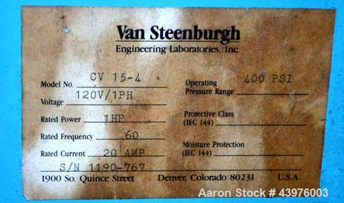 Used- Van Steenburgh Refrigerant Recovery System, Model CV 15-4