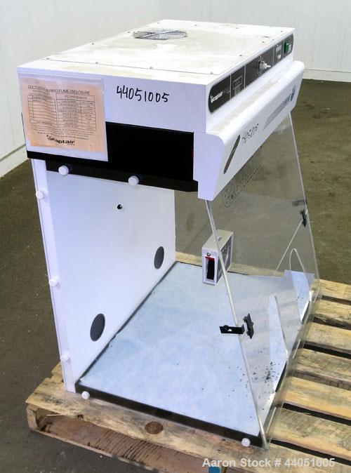 "Used- Captair Filtair Ductless Recirculating Fume Hood, Model 824. Benchtop design, work area 28"" x 29.4"" x 22.4"" deep. 3/50..."