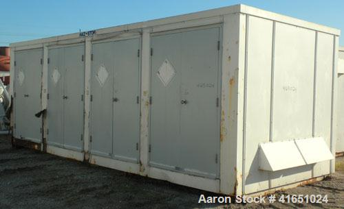 Used- Haz-Stor Hazardous Material Storage Enclosure, carbon steel. Internal enclosure dimensions 264'' long x 96'' deep x 83...