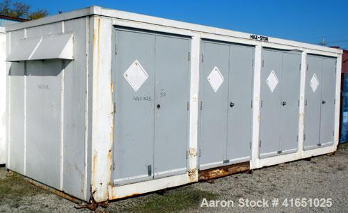 Used- Haz-Stor Hazardous Material Storage Enclosure,  carbon steel. Internal enclosure dimensions 264'' long x 96'' deep x 8...