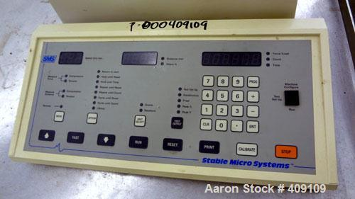 Used- SMS Stable Micro Systems Texture Analyser, Model TA-XT2i. Includes a keyboard.
