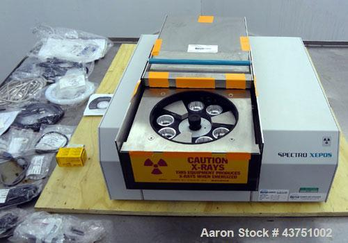 Used- Spectro Benchtop XRF Spectrometer, Model XEPOS. Range of applications includes, among others: The analysis of waste, s...