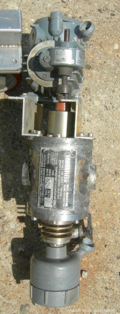 Used- Brookfield Inline Viscometer, model TT100, stainless steel. Rated 200 psi at 300 deg F.  Viscosity range 10- 500,000 (...