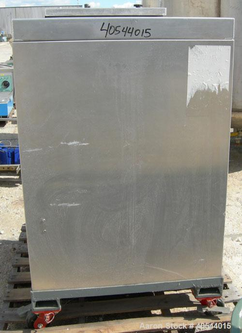 "Used- Premelters Inc hot melt, 304 stainless steel. 16"" X 16"" X approximately 24"" deep chamber with (4) heating zones, appro..."