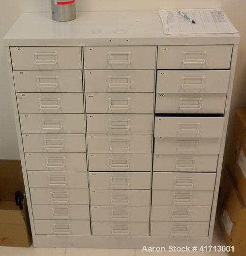 """Used- Lab Counters: (1) 29"""" deep x 83 1/2"""" long x 36"""" high section with 9 drawers; (1) 29"""" deep x 84 1/2"""" long x 36"""" high se..."""