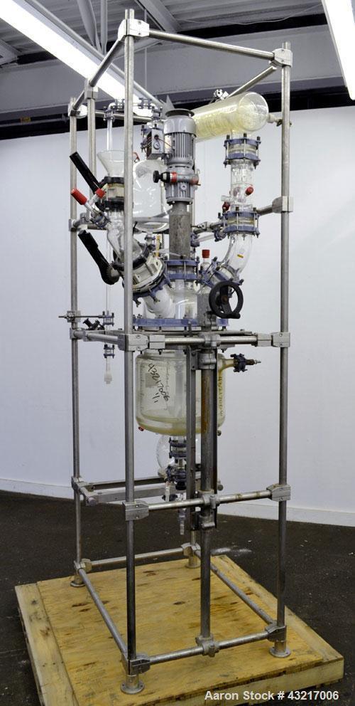 Used- Schott Jenaer Glaswerk Reactor System Consisting Of: (1) Glass 25 liter reactor, removable dished top, dished bottom. ...