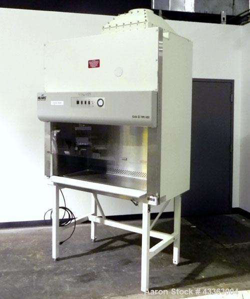 "Used- NuAire Biological Safety Cabinet, Model NU-425-400, 304 Stainless Steel. Class II Type A/B3. Interior 46-3/8"" wide x 2..."