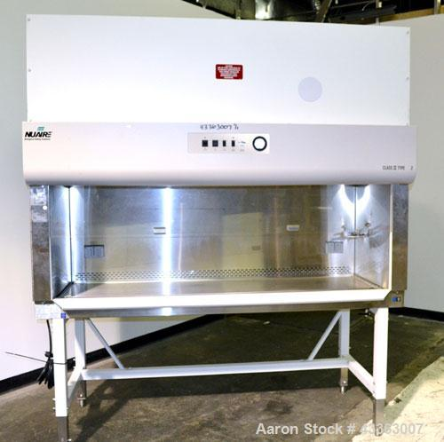 Used- Stainless Steel NuAire Biological Safety Cabinet, Model NU-425-600