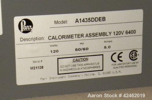 Used- Parr 6400 Calorimeter, serial #6400-0812-9035