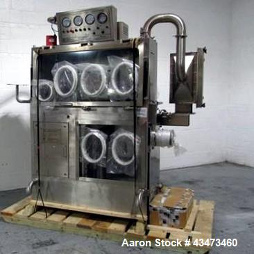 Used- PSL Powder Systems Limited Drum Sampling Isolator. 316 Stainless steel construction, with top sampling section, approx...