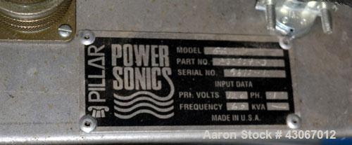 Used- Power Sonics Ultrasonic Cleaner, Model CT15-P1K, 316 Stainless Steel. Approximate 15 gallon tank, 20'' wide x 10'' lon...