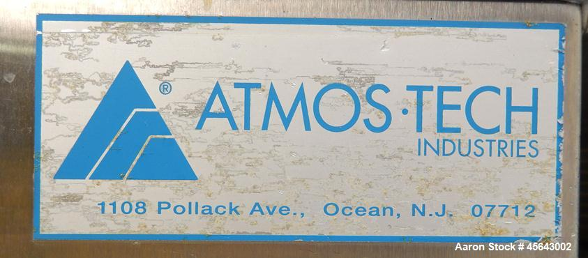Used- Atmos-Tech Industries Sanitary Portable Storage & Transfer Cart, Model PTC2860-2, Stainless Steel. Designed for moveme...