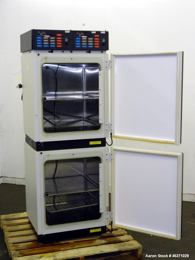 Used- Queue Systems Dual Chamber Water Jacketed Incubator.