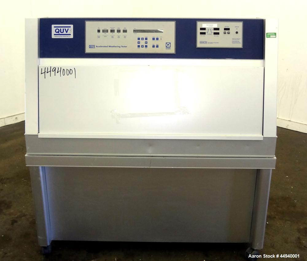 Used- QUV Accelerated Weathering Tester, Model QUV/CW. Temperature range 35 to 80 Degrees C.  Cool white fluorescent UV expo...