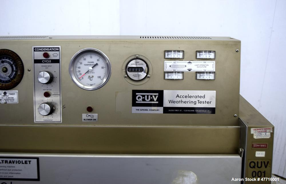 Used- QUV Accelerated Weathering Tester, Model QUV.