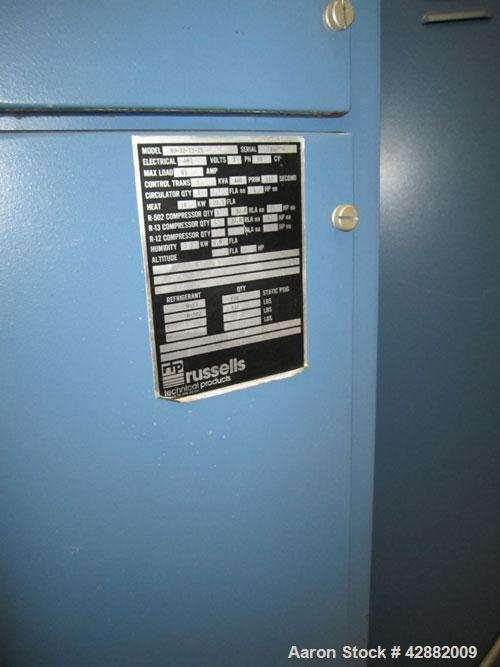 Used-Russells Technical Products Environmental  (Temperature/ Humidity) Chamber, Model RD32-15-15,  A/C. Heat rejected kW = ...