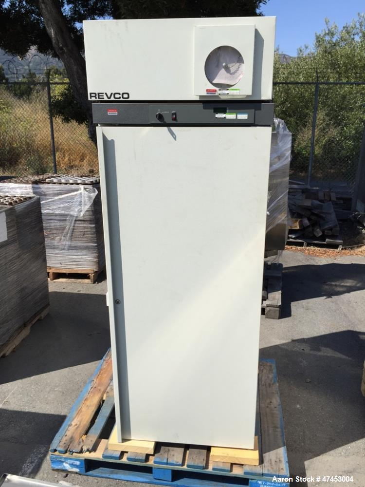 "Used- Revco Scientific Refrigerator, Model REL2304D1. Approximate 23.3 cubic feet chamber, approximate 55"" tall x 23"" wide x..."
