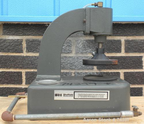 Used- Sheffield Instrument Porosimeter. Used to measure the porosity of a sample by comparing the bulk volume of the sample ...