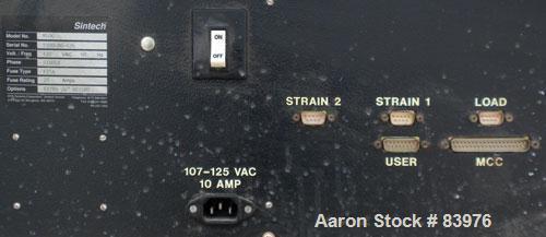 USED- Sintech Environmental Tensile Testing Machine, Model M100. 440 Watt, 600 Degrees F max temperature. Cabinet 1/4 HP, 1/...