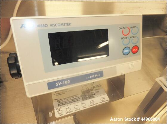 Unused AND Company Ltd Vibro Viscometer, Model SV-100, with  AND SV-100 Sine-Wave Vibro Viscometer tuning fork vibration met...