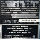 Used- Thermotron/ Unholtz-Dickie Testing System Consisting Of: (1) Thermotron agree Environmental Chamber,Mmodel F-42-CHMV-1...