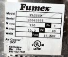 Used- Fumex Portable Air Filtration System, Model FA2-SSD. 304 Stainless steel cabinet, approximate 210 cfm at 39