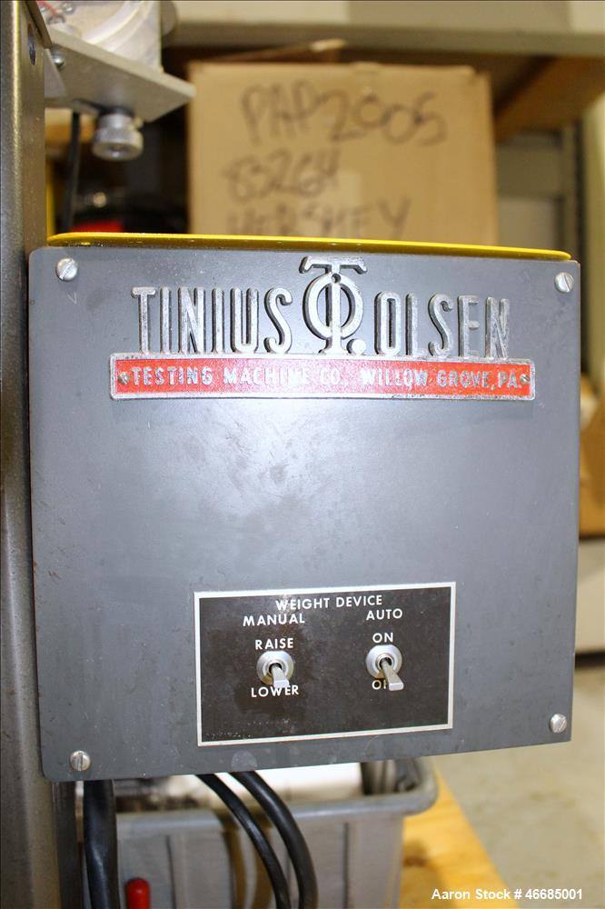 Used- Tinius Olsen Extrusion Plastometer/Melt Indexer, Model UE-4-78.
