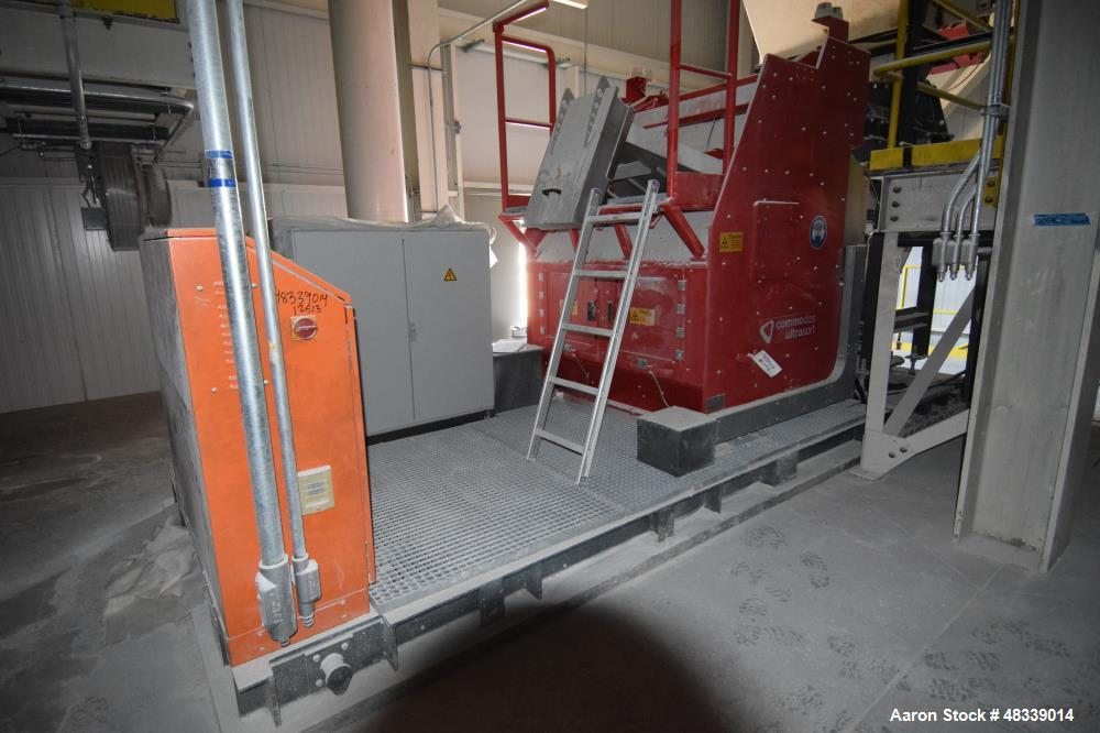 Used-Tomra Commodas Ultrasort Pro Secondary XRT C-1200 Sorter. Capable of sorting 20 - 120mm material after primary crushing...