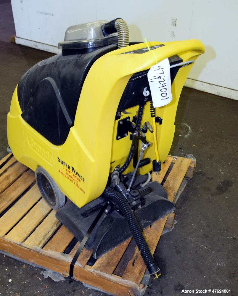 "Used- Tornado Industries 20 Gallon Self Contained Carpet Cleaner, Model Marathon 2000. 22"" Wide cleaning path. 60 Hertz, 115..."