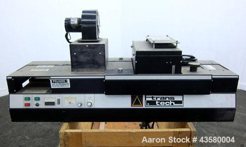 "Used- Trans-Tech UV Curing Conveyor System, Model 15608-10. Includes an UVEX model 15647-6 ""C"" Lamp, serial# 5027."
