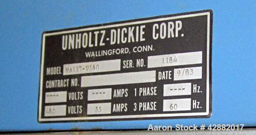 Used-Unholtz Dickie Shaker, Model UD-560/F42.